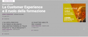Home page Harvard Business Review Customer Experience Adriana Galgano - piccola